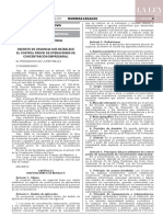 Decreto de urgencia N° 013-2019