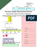 Precision Length Measurement Exercise