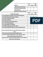 Check List Legislação Específica