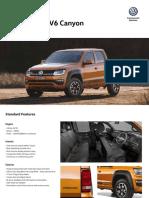 VW AmarokV6Canyon MY19SpecSheet Final