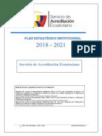 Plan Estratégico 2018 2021