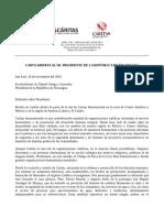 Carta Abierta de Caritas Al Excmo. Pte. Daniel Ortega