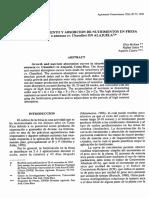 Curva de Crecimiento y Absorción de Nutrimentos en Fresa en Alajuela