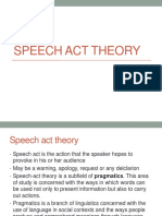 Speech Act Theory (Perlo, Illo, Locu)