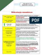 Zacznik Nr 2 Terminy Rekrutacji Zasadniczej i Uzupeniajcej