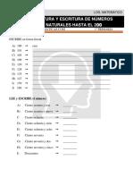 15 Lectura y Escritura de Números Naturales Hasta El 200 Primero de Primaria