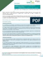 Boletim Terapêutico 2013 - Recomendações Para a Terapêutica Farmacológica Da Hiperglicémia Na Dm2