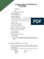 Esquema de Practica Informe