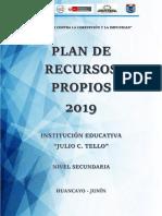PLAN DE RECURSOS PROPIOS