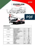 QY70V Load Chart