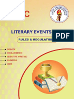 ASISC Rules and Regulations for Literary  events