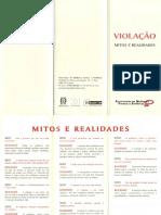 Violação - Mitos e Realidades - Folheto