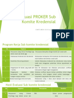 evaluasi program kerja sub komite kredensial