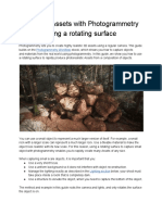 Creating Assets With Photogrammetry Using a Rotating Surface