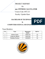 Fitness Calculator Python Project