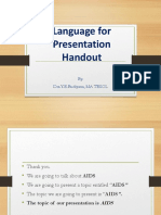 Language for Presentation Handout 2019