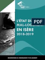 Rapport sur le mal logement en Isère 2018 2019