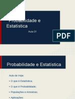 Probabilidade e Estatastica - Aula 01