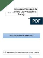 Lineamientos Generales Reforma de La Ley Procesal Del Trabajo