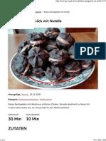 Kakao-Spritzgebäck Mit Nutella