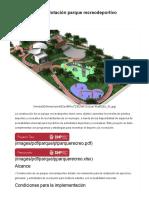 Parque recreodeportivo