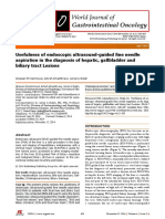 2014 EUS FNA in the Diagnosis of Hepatic, Gallbladder and Biliary Tract Lesions