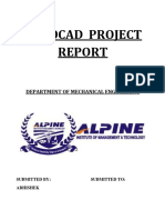 Autocad Project Report