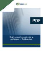 Examen Sur l'Exercice de La Profession – Guide Public (1)