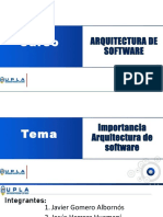 Importancia Arquitectura de Software