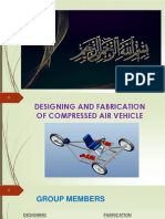 Designing and Fabrication of Compressed Air Vehicle Ppt