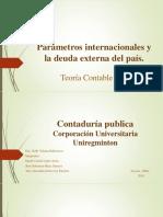 Parámetros Internacionales y La Deuda Externa Del País CONTABILIDAD