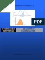 52 Questoes de Concursos - Estatística - Vol III - Probabilidade I