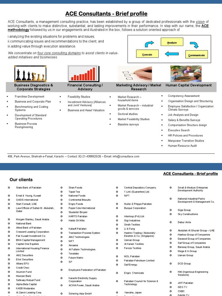 ACE Consultants - Brief profile