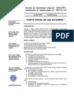 10 Boletin Fiscal 122 OCTUBRE 2015 Costo Fiscal de Las Acciones