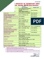 Acedmic schedule