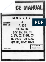 Hammond Service Manual a a-100 BA BC BCV BV B2 B3 C CV C2 C2 Text
