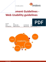 Web Usability Guidelines