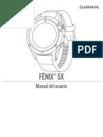 Manual de Usuario Garmin Fenix 5x