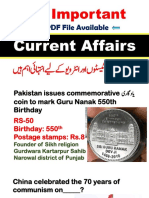 50 Important Current Affairs Month of October 2019,