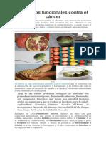 Alimentos funcionales contra el cancer