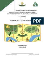 _manual de Técnicas Scouts Canapas 2019 Ultimo