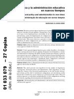 Alonso Brá - La Política y La Administración Educativa