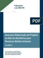 Publicações Temáticas Guia Para Elaboração de Projetos de Aterros Sanitários Para Resíduos Sólidos Urbanos Volume III