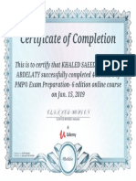 Khaled Saeed PMP Udemy Certificate 5