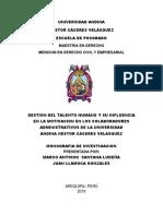 Universidad Andina Gestion Tthh