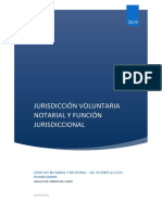 Jurisdicción Voluntaria Notarial y Función Jurisdiccional