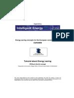 Tutorial Energy Saving UK