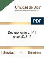 01 La Unicidad de Dios