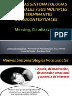 Las Nuevas Sintomatologías Vocacionales y Sus Múltiples Determinantes