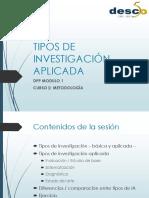 1tipos de Investigacion Aplicada Dpp 2016 17